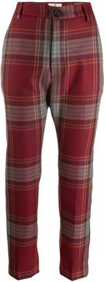 Vivienne Westwood tartan straight leg trousers