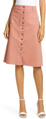 Kate Spade Button Front Denim Skirt