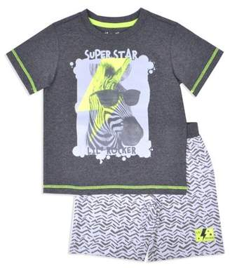 Nannette Toddler Boy T-shirt & Knit Shorts, 2pc Outfit Set