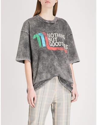 Maje Tassia cotton-jersey T-shirt