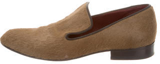 CelineCéline Ponyhair Round-Toe Loafers