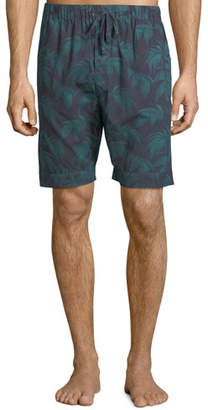 Desmond & Dempsey Men's Byron Palm Leaf-Print Lounge Shorts