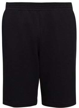 Versace Postage Stamp Jersey Shorts - Mens - Black