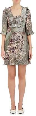 Mayle Maison Women's Valentina Floral-Print Silk Satin Dress