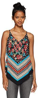 Amy Byer A. Byer Women's Young Teen Halter Style Cami Top with V Hemline