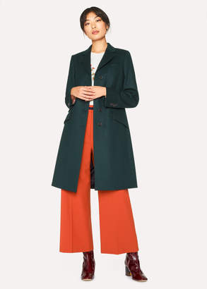 Paul Smith Women's Forest Green Wool And Cashmere-Blend Epsom Coat