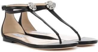 Jimmy Choo Afia Flat leather sandals