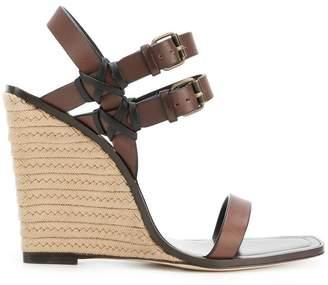 Saint Laurent stacked heel wedge sandals