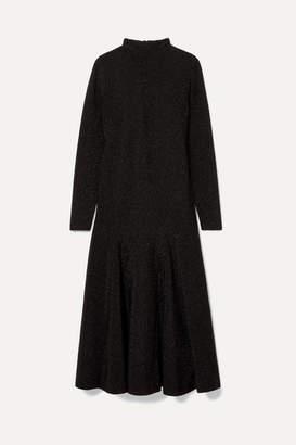 Ganni Glittered Stretch-jersey Maxi Dress - Black
