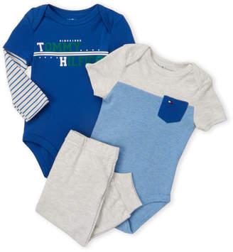 98c85bdb3734 Tommy Hilfiger Newborn Boys) 3-Piece Logo Bodysuit   Joggers Set