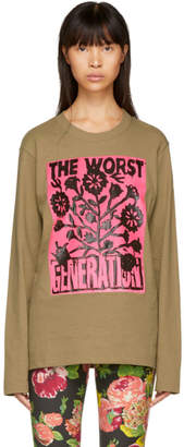 Junya Watanabe Brown The Worst Generation T-Shirt
