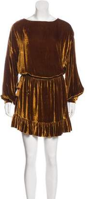Ulla Johnson Long Sleeve Velvet Mini Dress