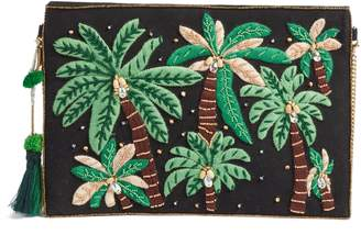 AREA STARS Embroidered Palm Tree Crossbody Bag