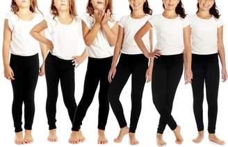 Crush Girls Seamless Legging 6 Pack- Size 4-6X - Black