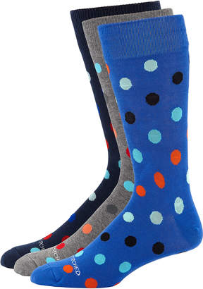 Unsimply Stitched Men's Polka Dot Socks, 3 Pack
