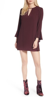 Women's Leith Spiral Sleeve Minidress $69 thestylecure.com