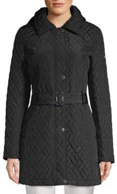 Calvin Klein Quilted Belted Jacket