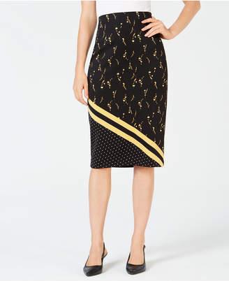 Alfani Printed Scuba Skirt
