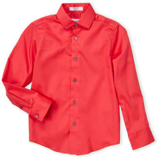 Calvin Klein Boys 8-20) Dark Coral Sateen Dress Shirt