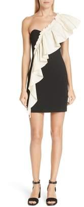Cinq à Sept Adrie Ruffle One-Shoulder Dress