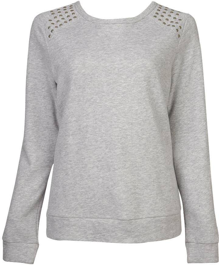 Shoulder Studded Sweatshirt