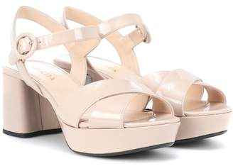 Prada Patent leather plateau sandals