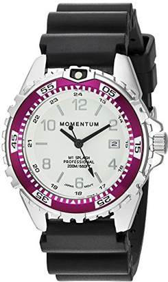 Momentum Women's Quartz Watch | M1 Splash by Momentum| Stainless Steel Watches for Women | Dive Watch with Japanese Movement & Analog Display | Water Resistant Ladies Watch with Date –Lume/Eggplant Rubber