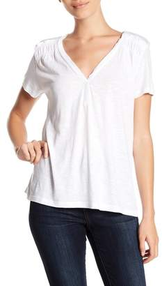 Susina V-Neck Ruffled Tee (Regular & Petite)