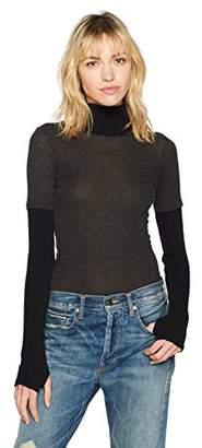 Enza Costa Women's Cashmere Long Sleeve Turtleneck Top