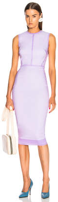 Victoria Beckham Sleeveless Linear Fitted Midi Dress