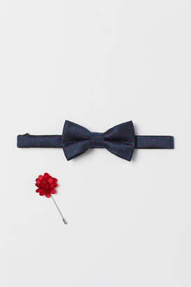 H&M Bow Tie and Lapel Pin - Blue