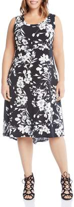 Karen Kane Plus Floral Midi Dress