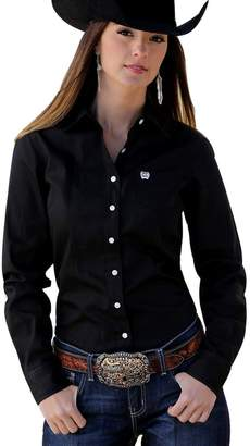 Cinch Western Shirt Womens L/S Weave Button Pocket S MSW9164027