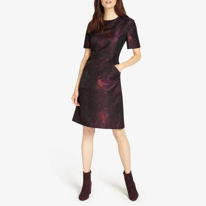 Black/Purple Rhona Dress