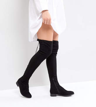 ASOS Tall ASOS KEEP UP TALL Flat Over The Knee Boots