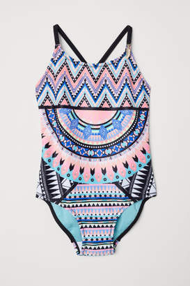 H&M Patterned Swimsuit - Black