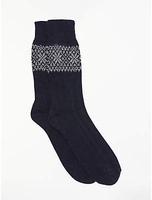 John Lewis & Partners Made in Italy Cashmere Mix Fair Isle Socks