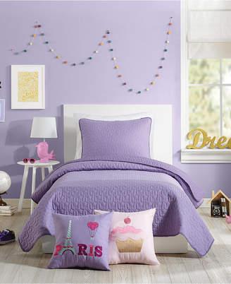 Nanette Lepore Urban Playground Coty Purple Twin Quilt Set - 2 Piece Bedding
