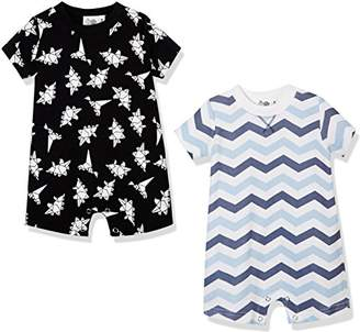 Silly Apples Baby Boy 2-Pack Short-Sleeve Romper (NB)