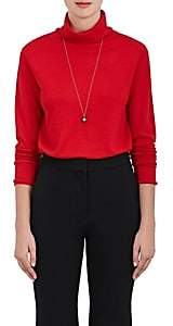 Boon The Shop Women's Keyhole-Back Cashmere-Silk Sweater-Rouge