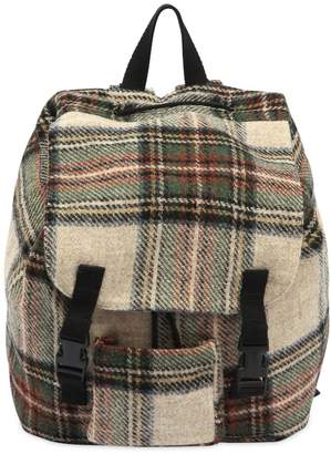 Caramel Baby And Child Check Felt Wool Backpack