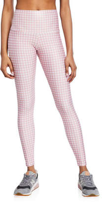 Onzie Gingham High-Rise Leggings