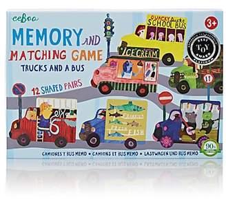 Eeboo TRUCKS & A BUS MATCHING GAME - PINK