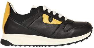 Fendi Monster Nappa Leather Sneakers