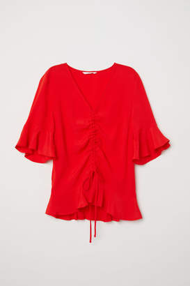 H&M Drawstring Blouse - Red