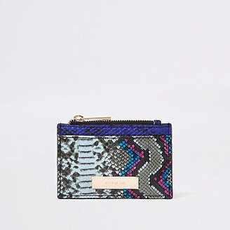 River Island Bright red croc card holder