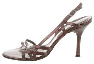 Via Spiga Metallic Slingback Sandals