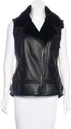 MICHAEL Michael Kors Sleeveless Zip-Up Vest