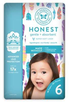 The Honest Company Honest 18-Pack Size 6 Diapers in Painted Feathers Pattern