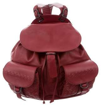 Bottega Veneta Intrecciato-Accented Backpack